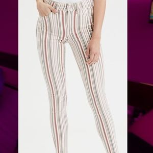 Brand New American Eagle crop Striped jeggings